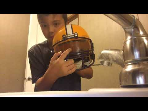 How to clean your football visor