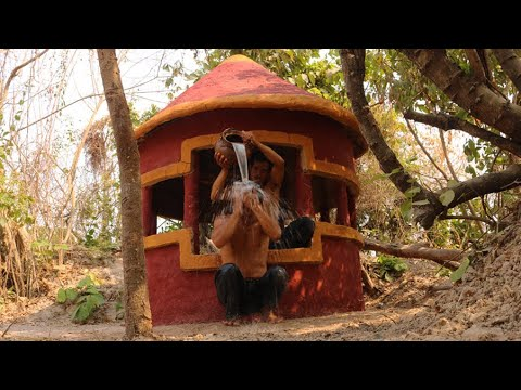 How To Make Build Amazing Cool Survival Shelter On Secret Waterhole Villa For Summer