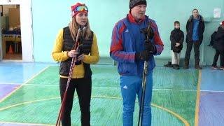 Олимпийцы Сергей Чепиков и Олеся Красномовец провели открытый урок для школьников