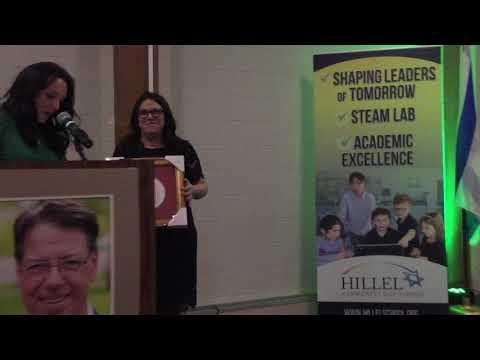 Hillel Community Day School Parent Volunteer of the Year - Eva Weissman 2019