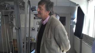 Stephen Fry at Bletchley Park