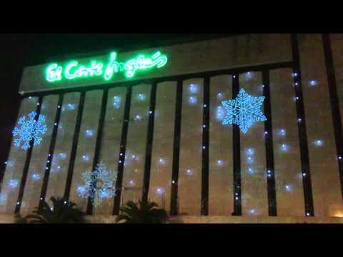 Efectos de luz de la fachada de navidad de el corte ingl s for Adornos navidenos el corte ingles