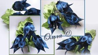 Flores masterclass de fitas estilo kanzashi