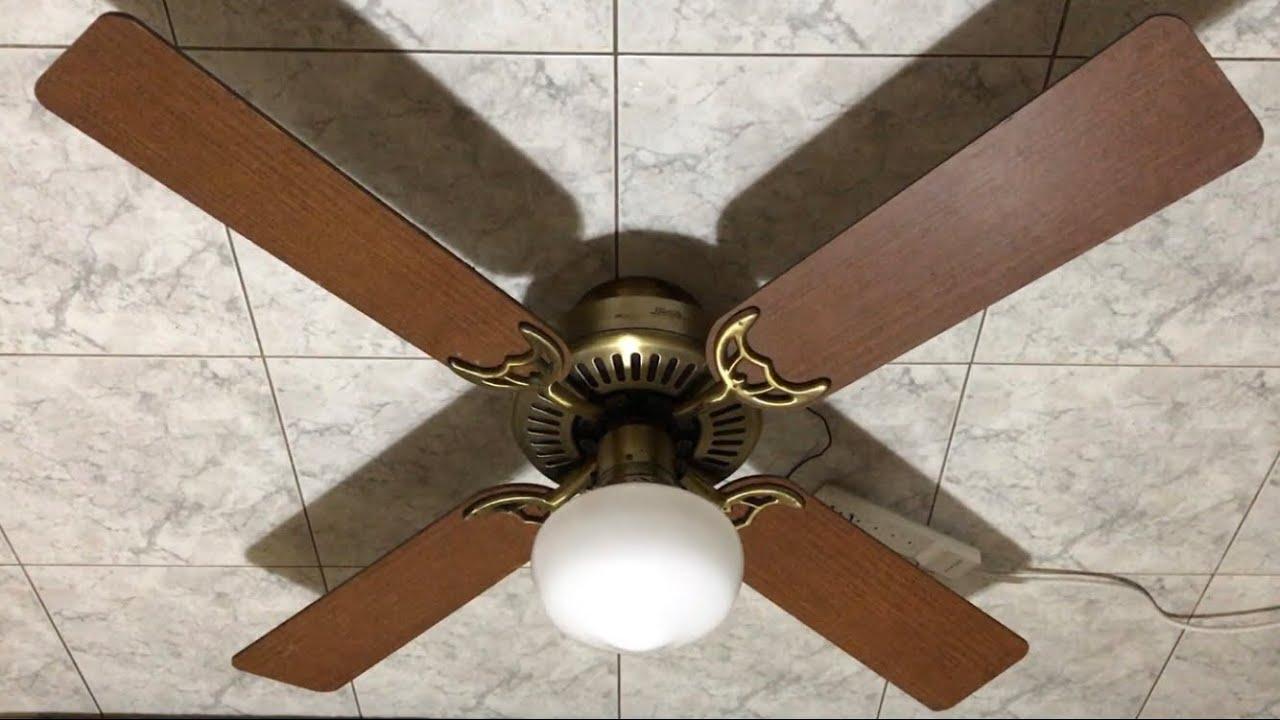 hunter coastal breeze ceiling fan 52 ceiling fan with school house globe light floor test. Black Bedroom Furniture Sets. Home Design Ideas
