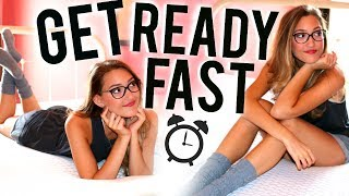 Get Ready Faster In The Morning In College! Morning Routine Life Hacks!