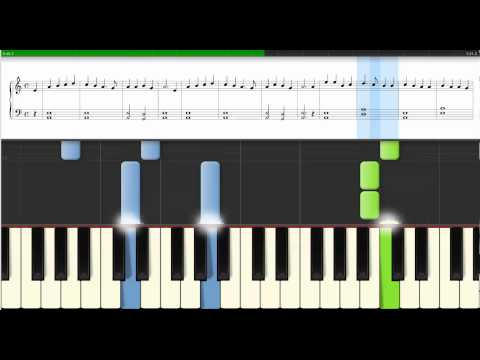 Piano - Synthesia - Notes - Huron Christmas Carol - Slow Beginner Version - Easy Piano