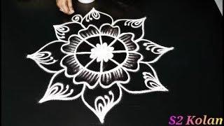 friday kolam designs || new year rangoli designs || simple freehand muggulu designs