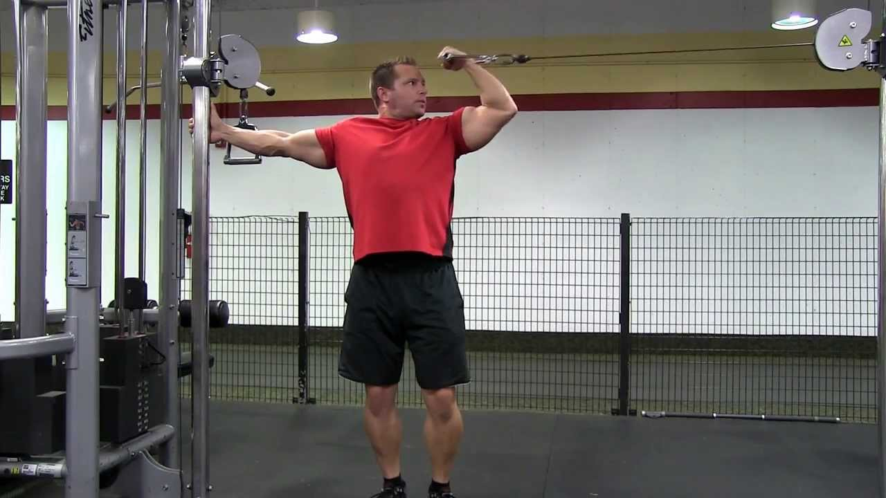 Standing Single Arm Cable Bicep Curl - YouTube