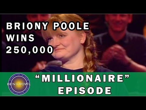 Who Wants to be a Millionaire UK Briony Poole 27/11/2001