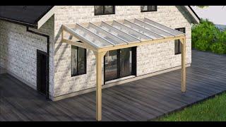Montering av glastak till uterum, altan och halvtak - Svenska