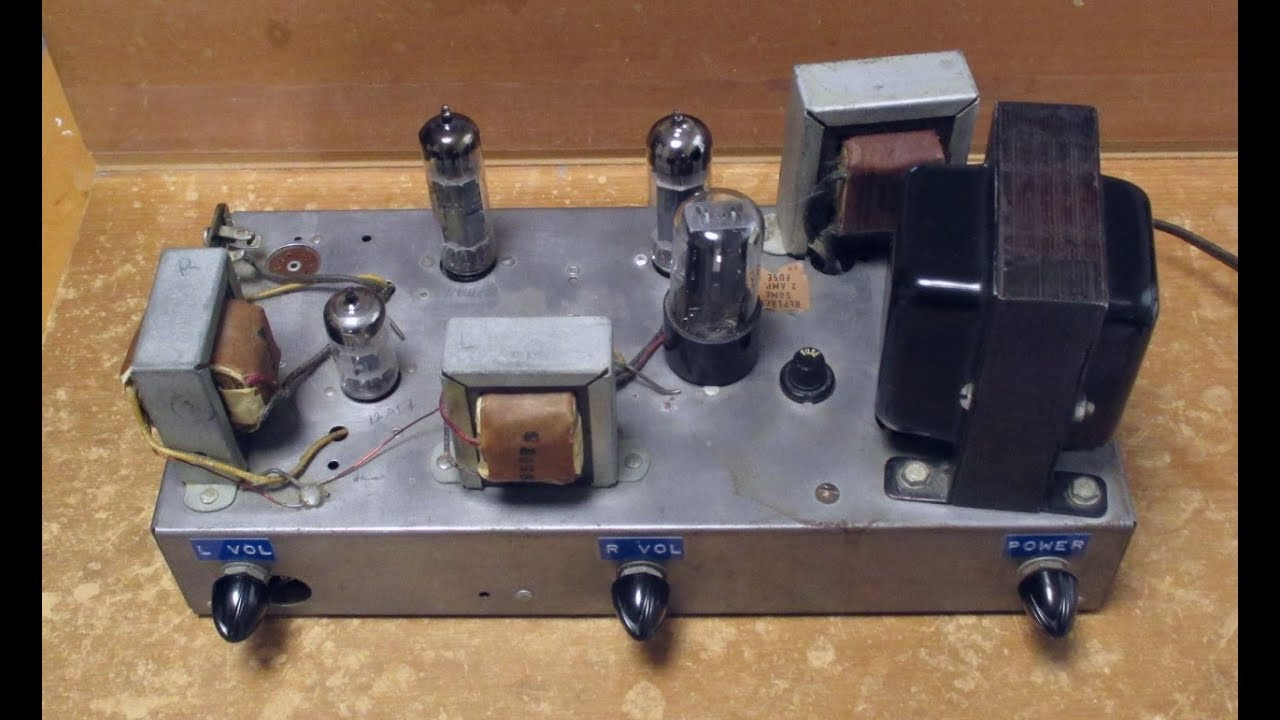 Stereo Tube Amplifier Test Se 6bq5 El84 With Schematic