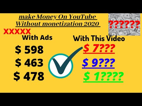 How to Make money On youtube without monetization 2020