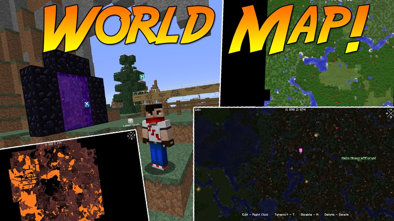 Xaero's World Map Mod! | Minecraft Mod Showcase!   YouTube