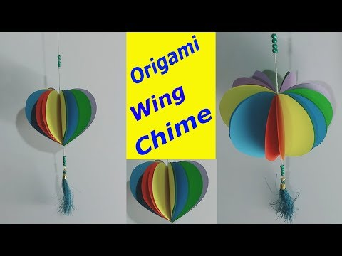 How To Make Wind Chime Wall Hanging With Paper For Room Decoration