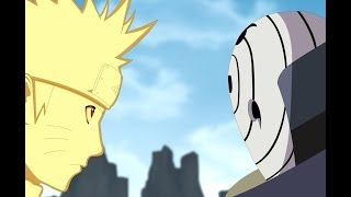 Naruto,Kakashi,Guy and b vs Obito Part 1