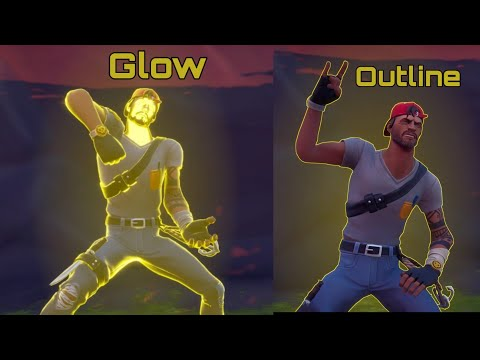 How To Glow In Fortnite Chapter 2 Tutorial  ( Character Outline )