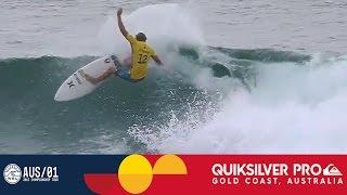 John John Florence's Two-Turn Combo - Quiksilver Pro Gold Coast 2017 Round One, Heat 6