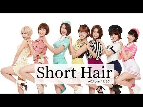 AOA - 단발머리(Short Hair) Lyrics - Rom/Hangul/Eng