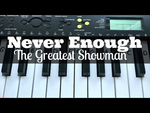 Never Enough - Loren Allred (The Greatest Showman) | Easy Keyboard Tutorial With Notes