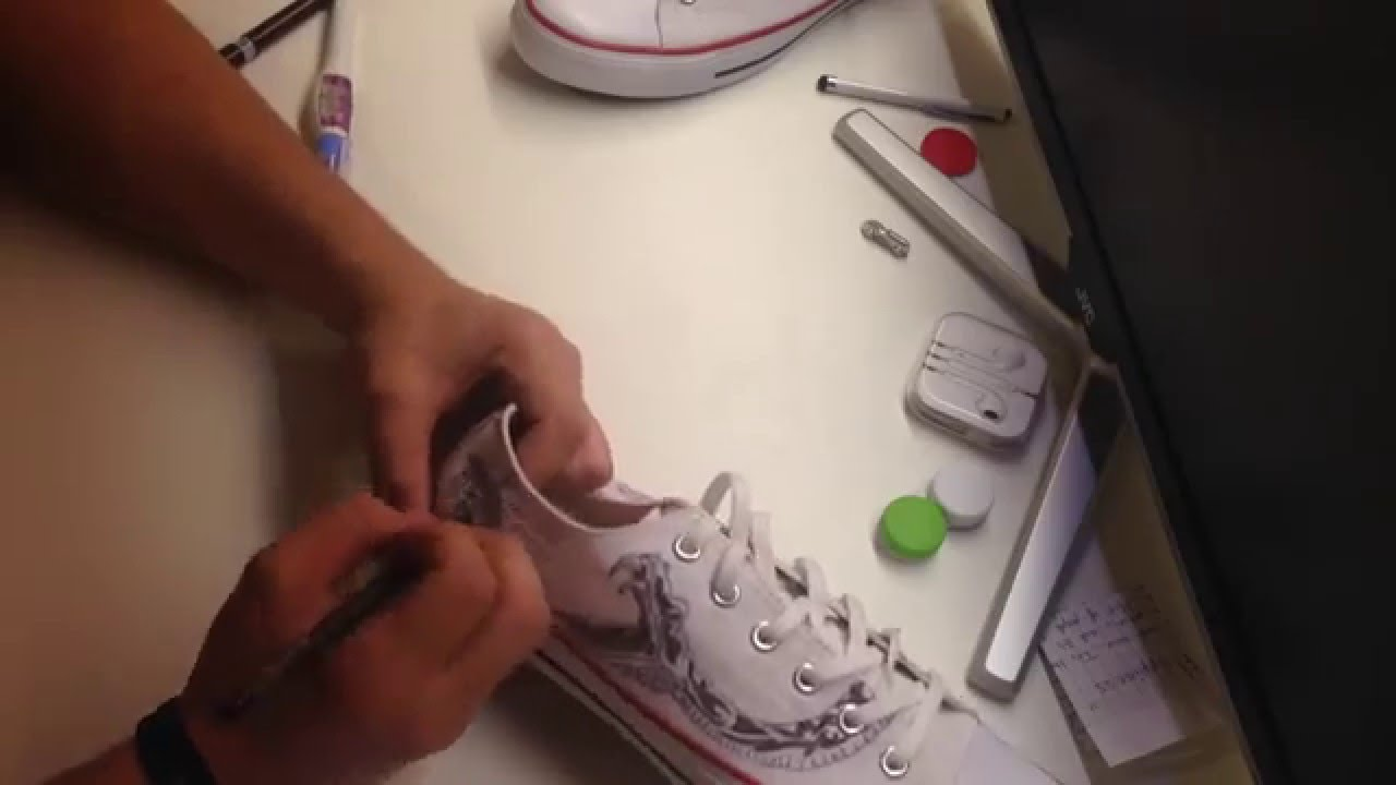 959c9a554cd9 HOW TO CUSTOMIZE YOUR CONVERSE • TUTORIAL - YouTube