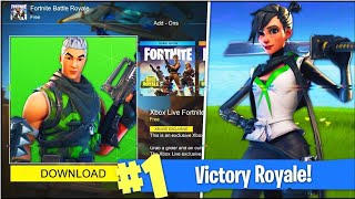 "KNOW THE NEW ""FREE SKIN PACK"" XBOX LIVE #2 on FORTNITE Battle Royale! 😱 (DATE)"