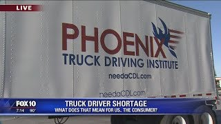 Truck driver shortage: What does that mean for consumers?