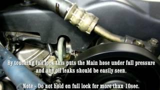 Checking Power Steering Hose for Oil Leaks