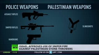 Bullets vs Rocks: Israel to use sniper fire against Palestinian stone-throwers
