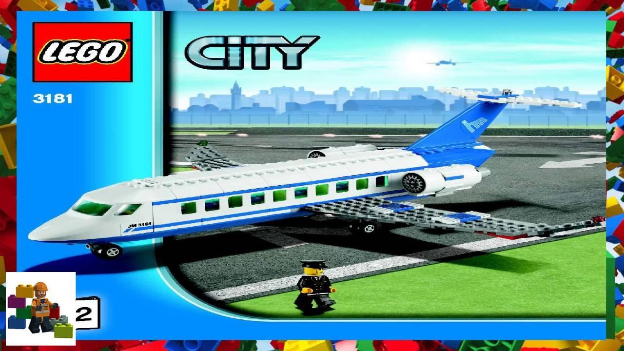 Lego instructions city airport 3181 passenger plane (book.