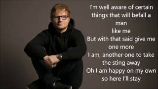 Ed Sheeran - Eraser [LYRICS]