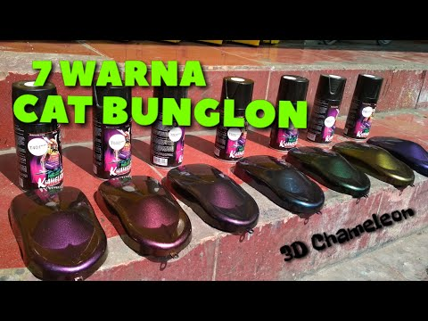 7 Warna CAT BUNGLON  SAMURAI PAINT 3D CHAMELEON