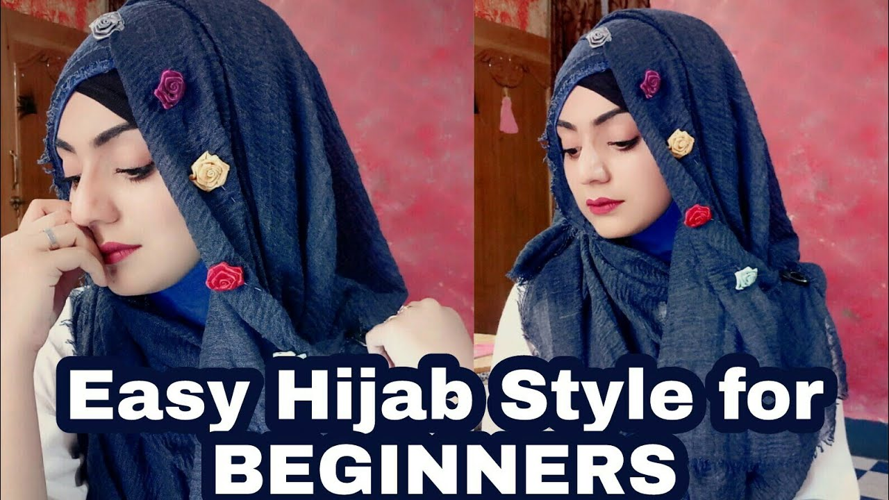 c13749259 Easy and Elegant Hijab style for Beginners..|| October special Hijab ...