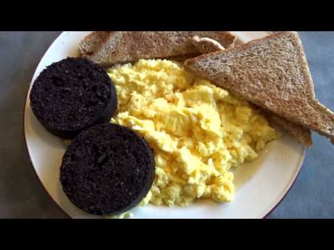 Black Pudding Scrambled Eggs Transport Cafe Ballinluig Perthshire Scotland