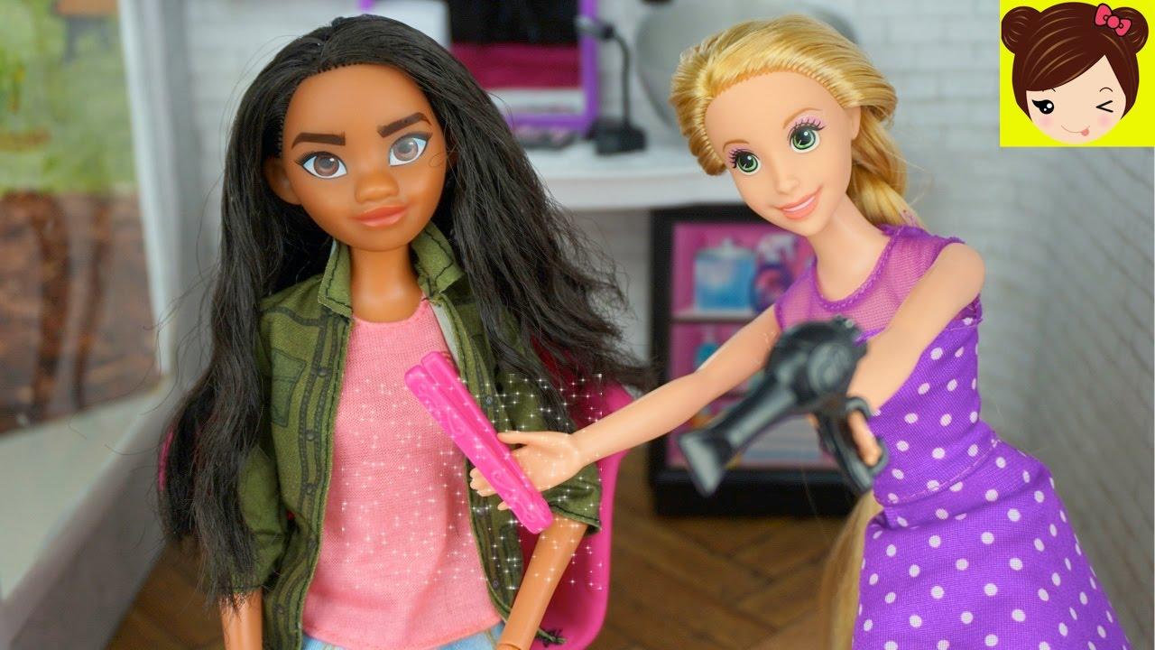 Salon Corta Belleza Juguetes Titi Y El Cabello De Barbie Peina Moana En Rapunzel DHIE29