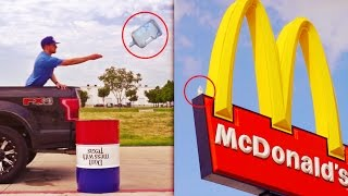 TOP 7 LUCKIEST Water Bottle Flips EVER ( Bottle Flip Trick Shots Compilation )