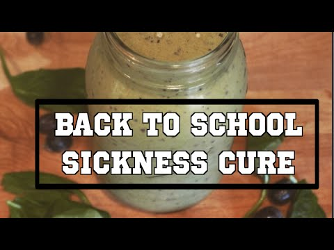 NATURE CURE FOR SINUSES || SCHOOLSICKNESS SMOOTHIE