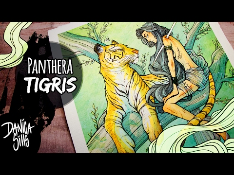 Panthera Tigris ♦ YTAC ♦ Spirit Animal ♦ Watercolor Painting