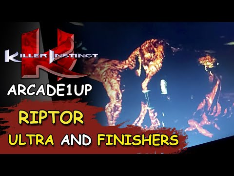 KILLER INSTINCT ARCADE1UP // RIPTOR 34 HIT ULTRA COMBO and FINISHERS from JDCgaming