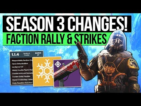 Destiny 2 News | FINAL FACTION RALLY & SEASON 3 CHANGES! In Air Accuracy, Roadmap & Strike Loot!