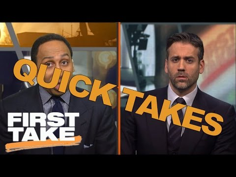 Quick Takes On The Warriors, Vince Carter And The NFL | First Take | May 2, 2017