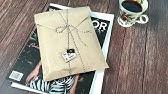 [ENG] 크라프트지로 멋스럽게 책포장 하는 방법 / How to wrap a book / 봉투를 만들어 책 포장하기