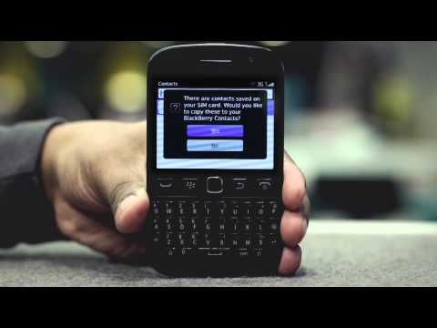 EE -- Blackberry 9720 -- Copy contacts from SIM to device