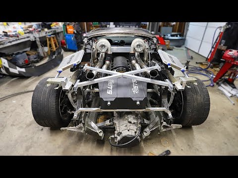 Building Custom Exhaust, Charge Pipes, & Mounting Heat Exchangers on the LS Huracan