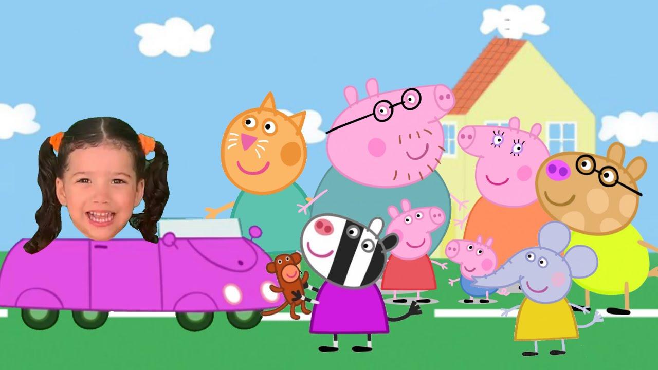 Peppa Pig em Fui Morar numa Casinha - Música da Galinha Pintadinha por Laura e Arthur
