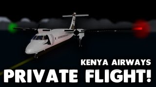 Kenya Airways Private Flight! | Roblox