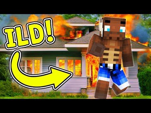 MIT HUS BRÆNDER! - Minecraft Invasionen #1