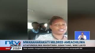 Mwanaharakati Mildred Atty aachiliwa baada ya polisi kutumia nguvu kumkamata
