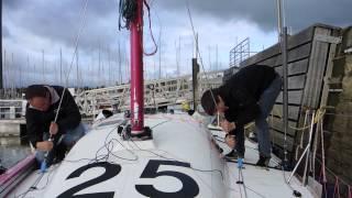 Mise à l'eau des deux bateaux Espoir et Performance