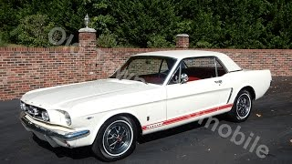 1965 Mustang GT, white and red for sale Old Town Automobile in Maryland