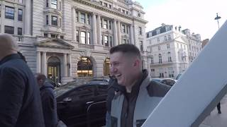 Tommy Robinson Interviewed During Brexit Protest